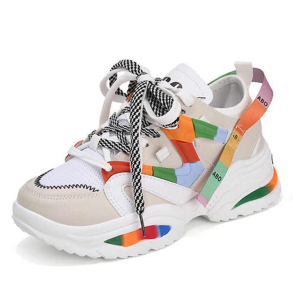Multicolour Stylish Woman Running Shoes Increasing 6CM High Heel