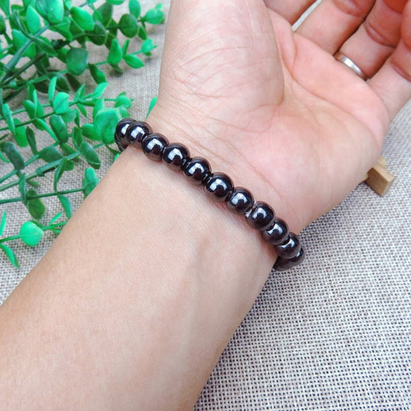 Unisex Luxury Slimming Bracelet Black Stone