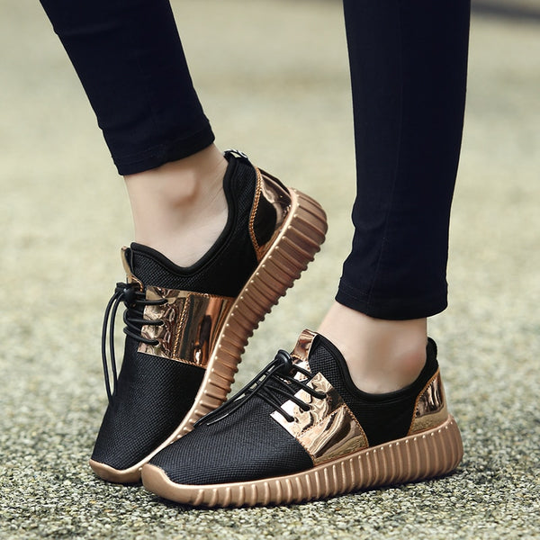Rose Gold Sneakers for Women