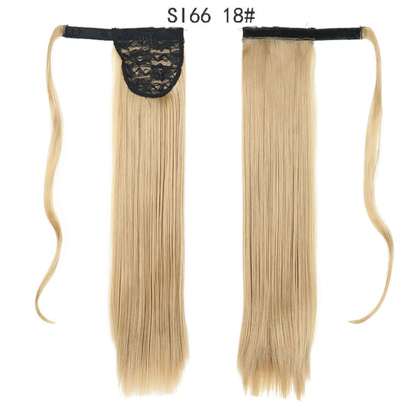 Long Straight Wrap Around Clip In Ponytail Hair Extension