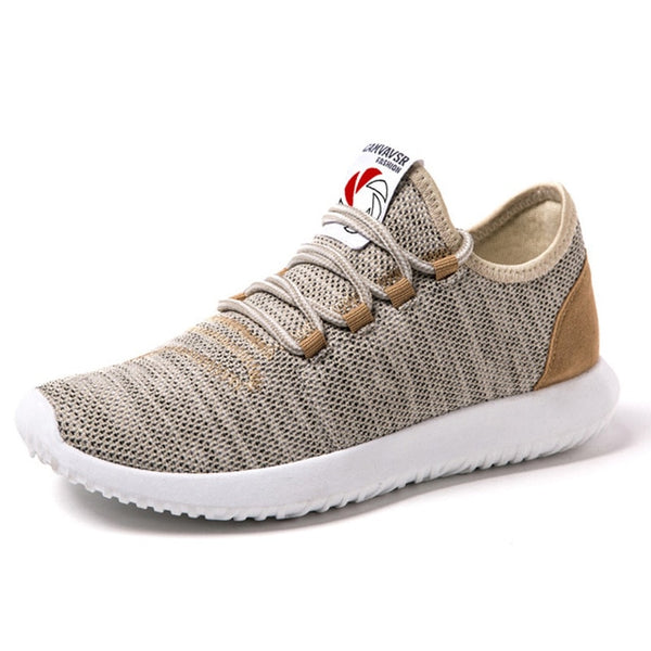 Smart and Stylish Breathable Beige Sneakers for Men