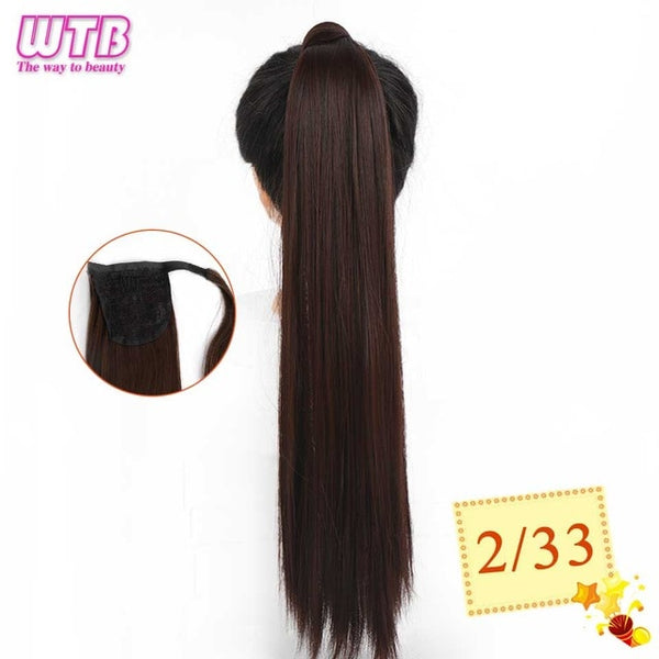 "22"" Long Wavy Wrap Around Clip In Ponytail Hair Extension"