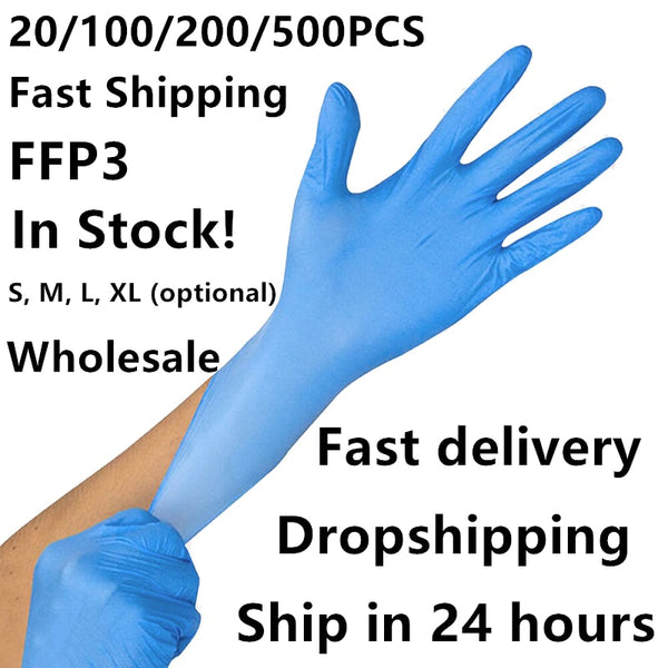 20/100/500 Pcs Disposable Latex Nitrile Glove