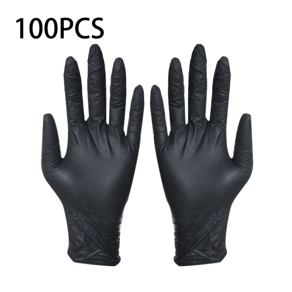 100pcs Disposable Black Gloves