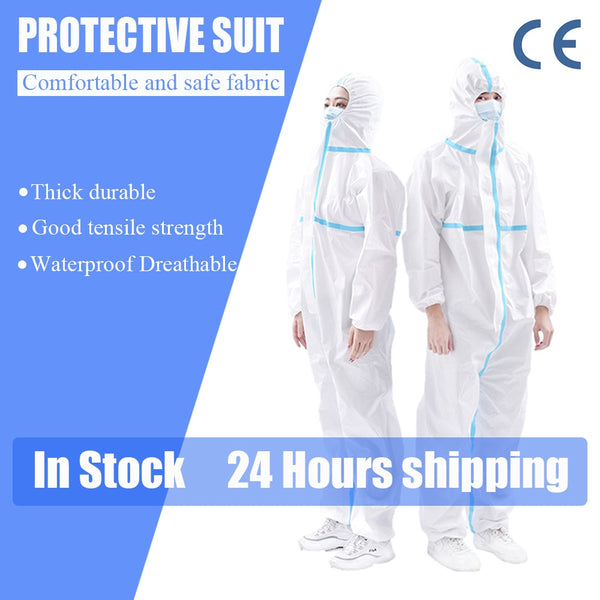 Waterproof PPE Suit Reusable Prevents dust Invasion