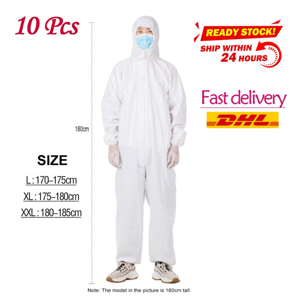 PPE 10 sets Disposable Anti-epidemic Antibacterial Isolation Suit
