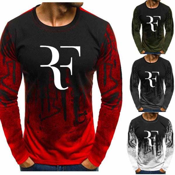 Roger Federer Gradient O neck Pullover for Men