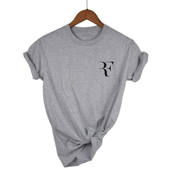 Roger Federer Print Cotton T-Shirt Women