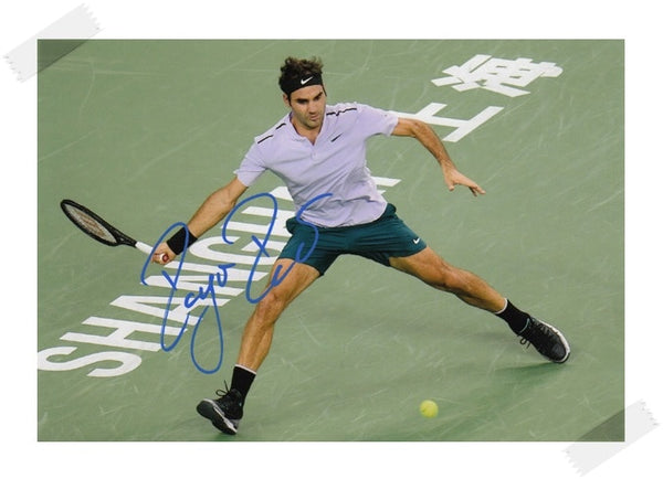 Roger Federer Signed Autographed original photo 7 inches