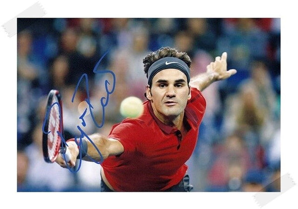 Roger Federer Autographed Signed with Pen Original Photo 4*6 inches