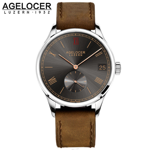 2016 AGELOCER Swiss lovers watch munite dial men's role watch luxury famous brand Sports Male Gift Analog Automatic Wristwatch