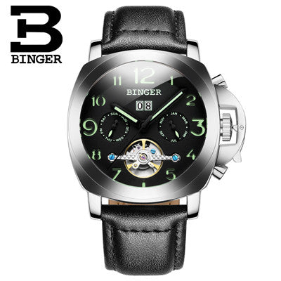 2016 Switzerland luxury watch men BINGER brand Mechanical Wristwatches Wristwatches multifunctional military Stop Watch B1169-5
