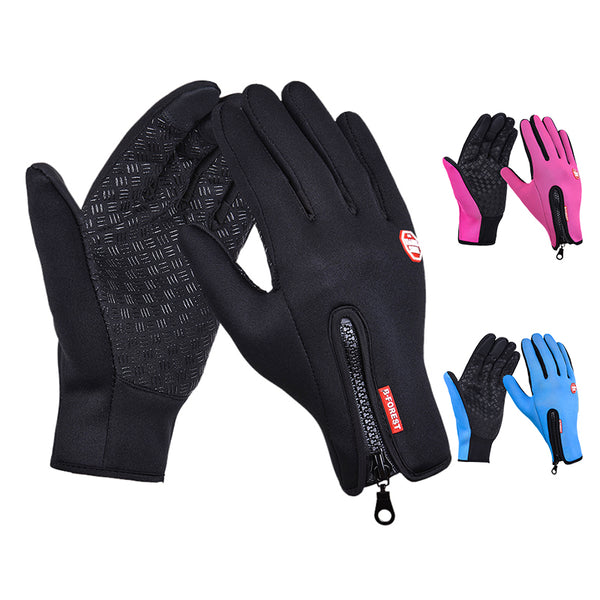 Adjustable Touch Screen Outdoor Sports Windstopper Ski Gloves for Man and Women