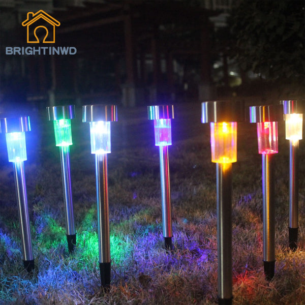 LED Solar Light 10pcs Power Outdoor Garden Solar Panel Lamp Decoration Solaire Lights Street Light Outdoor Luminaria Lighting