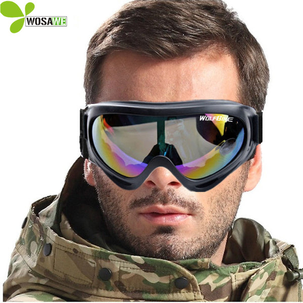 WOLFBIKE UV Protection Sports Ski Snowboard Skate Goggles Colorful Lens