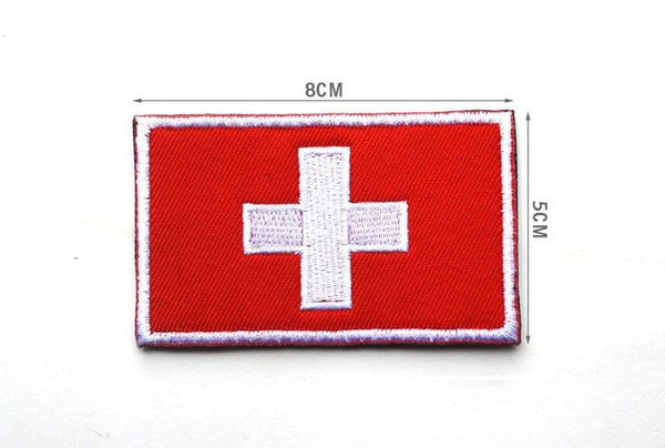 Swiss flag  Patch 3D Embroidery