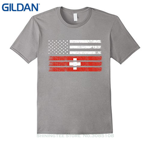 Swiss American Flag T-Shirt