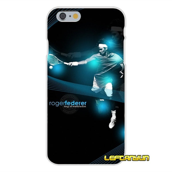 Roger Federer Logo Slim Silicone phone Case For iPhone X 4 4S 5 5S 5C SE 6 6S 7 8 Plus