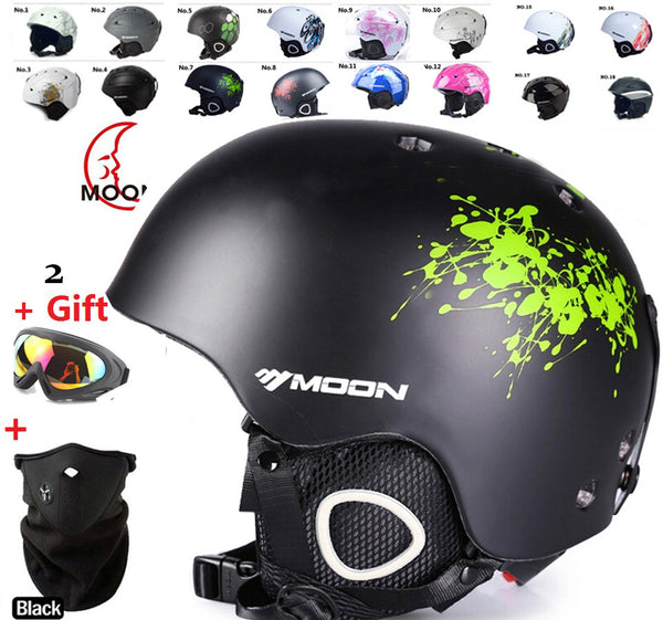Moon   skiing helmet autumn and winter adult male ladies monoboard skiing flanchard equipment Snow Sports saftly Helmets