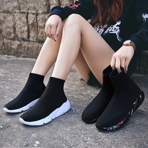 Platform Sock Sneakers for Women