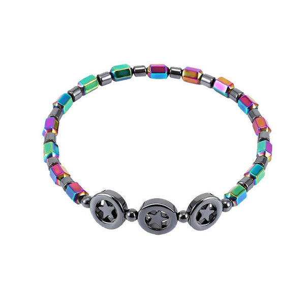 Vibrant Weight Loss Round Stone Magnetic Therapy Bracelet