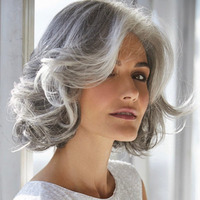 Amal Synthetic Wig Traditional Cap Rene of Paris