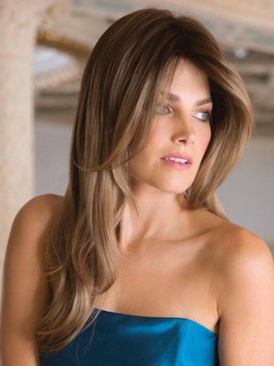 Angelica Large Gradient Colors Synthetic Wig Traditional Cap
