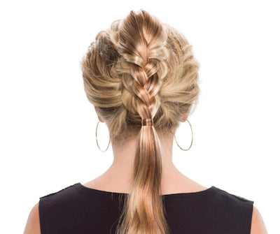 Dutch Braid Clip-On Synthetic Hairpiece