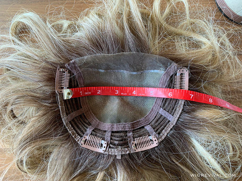 how to measure a hair topper