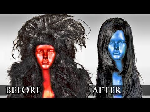 fix old synthetic wigs