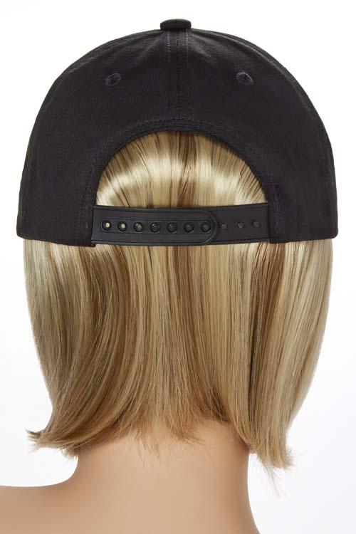 Shorty Hat Black | Cotton Cap w/ Synthetic Hair