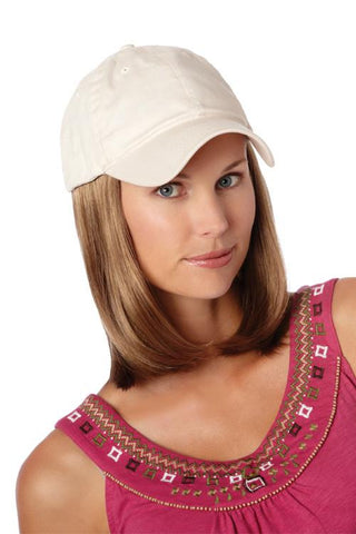 Classic Hat Beige | Cotton Cap w/ Synthetic Hair