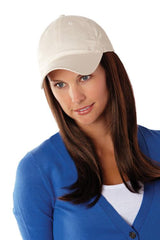 Long Hat Beige | Cotton Cap w/ Synthetic Hair