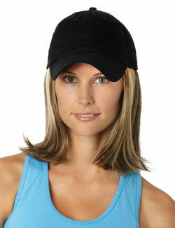 Classic Hat Black | Cotton Cap w/ Synthetic Hair