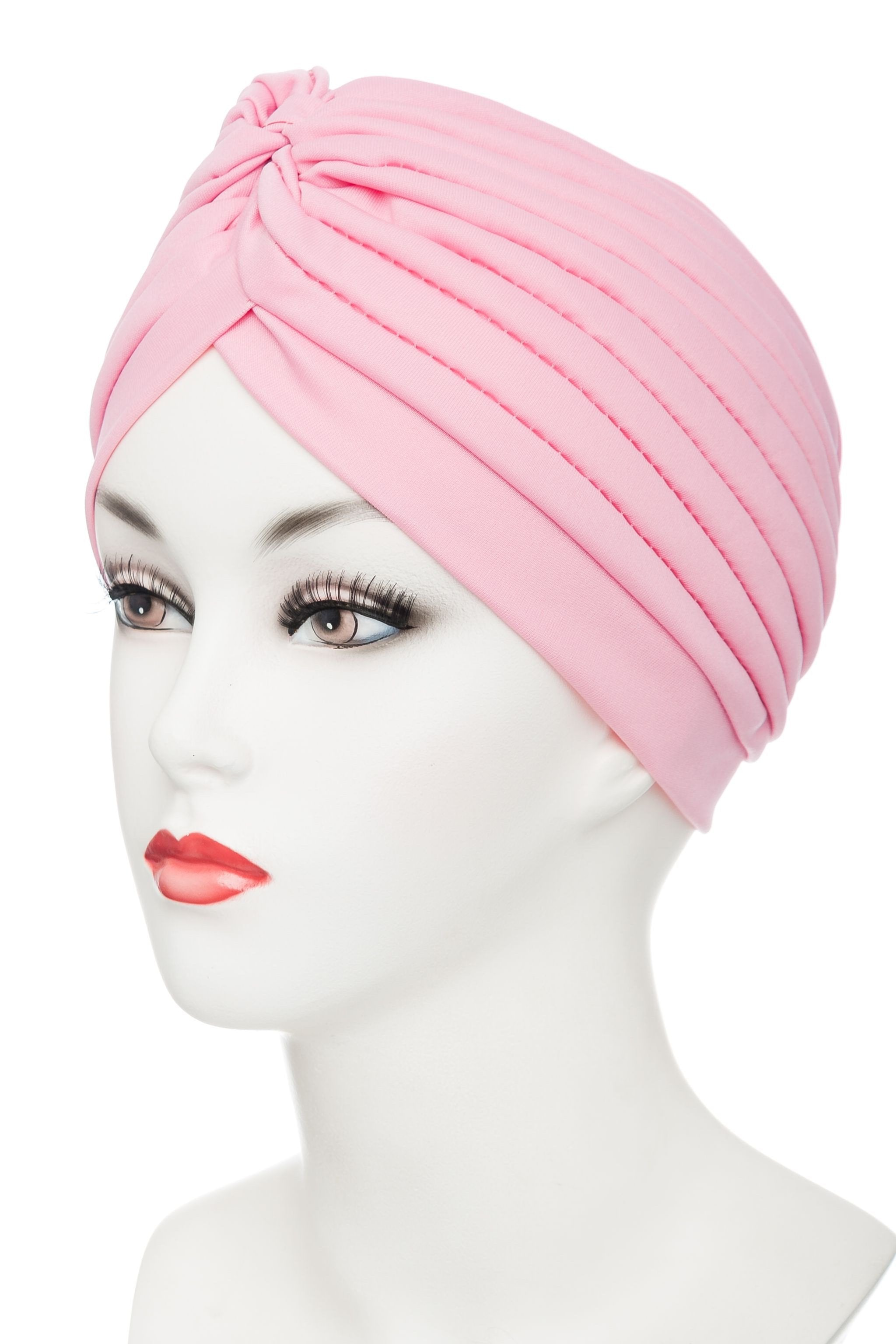 Pleated Turban | Polyester-Cotton Material