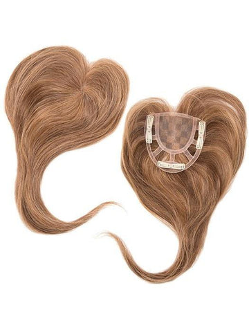 Add On Crown Topper | Heat Friendly/Human Hair Blend Hairpiece (Monofilament Base)