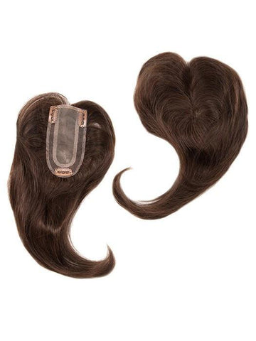 Add On Part Topper | Heat Friendly/Human Hair Blend Hairpiece (Monofilament Base)