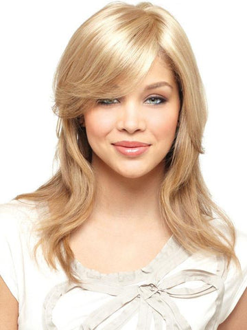 Mono Medium Top Piece | Synthetic Hair Fiber - Monofilament Base