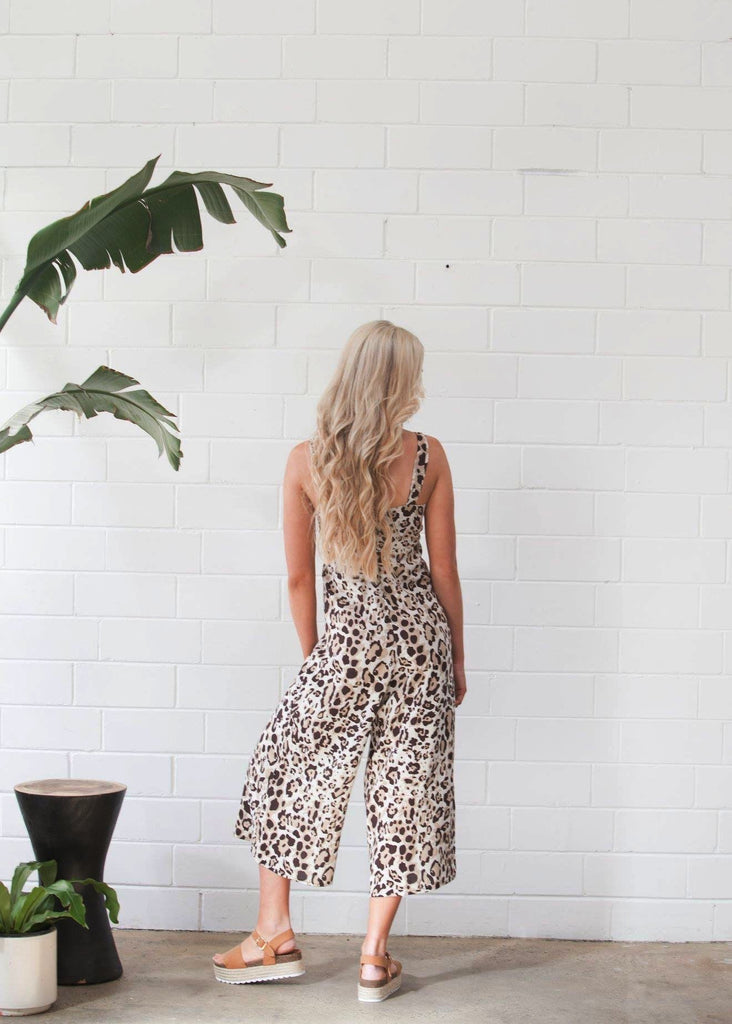 Tie Front Jumpsuit Animal