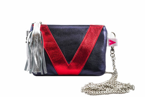 Blue and Red V3 Crossbody