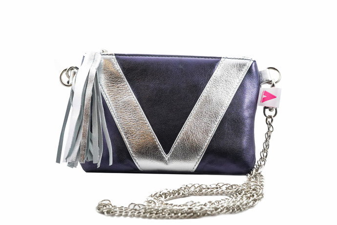 Navy and Silver V3 Crossbody
