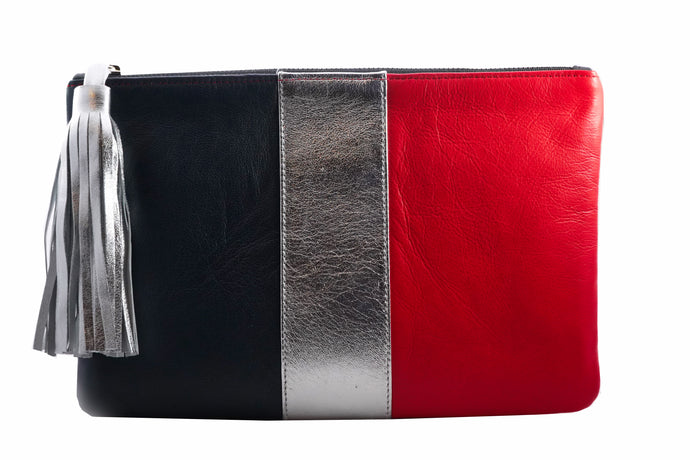 Leighton Clutch Navy and Red