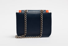 Ryland Cross Body Blue, Orange and Silver