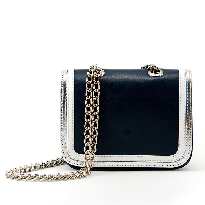 Ryland Cross Body Blue, White and Silver