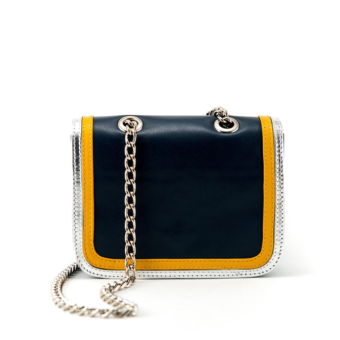 Ryland Cross Body Blue, Yellow and Silver