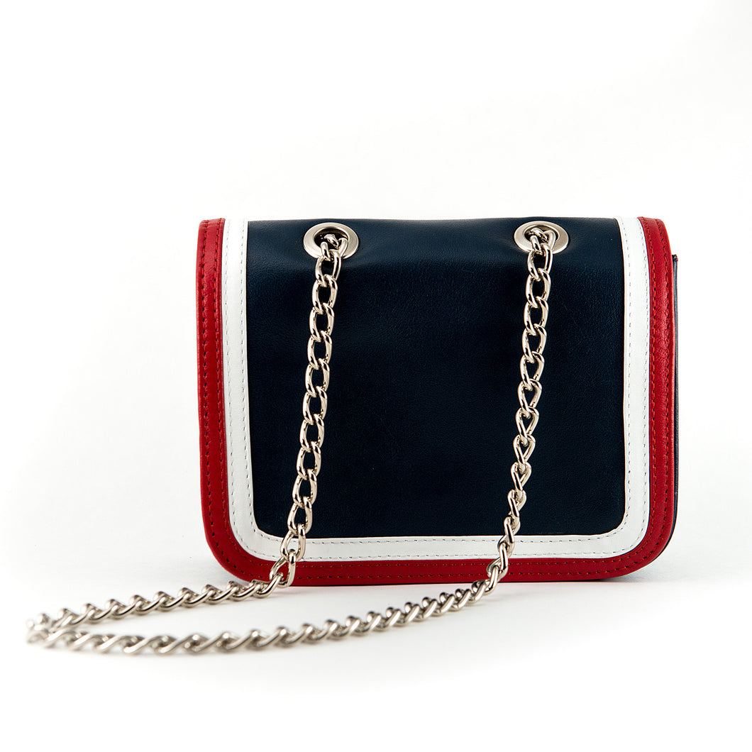Ryland Cross Body Red, White and Blue