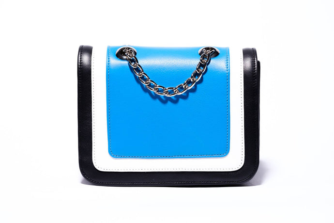Ryland Cross Body Bright Blue, White and Black