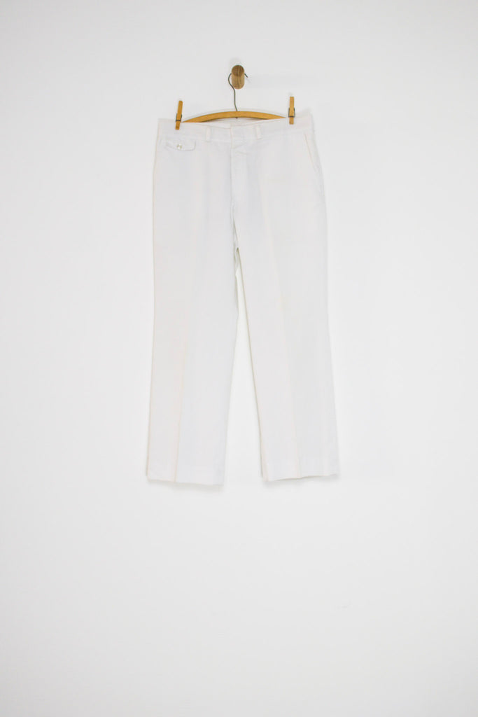 70's WHITE SLACKS / 33