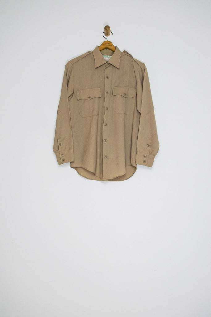 1990's WORKWEAR UNIFORM BUTTON UP / MEDIUM