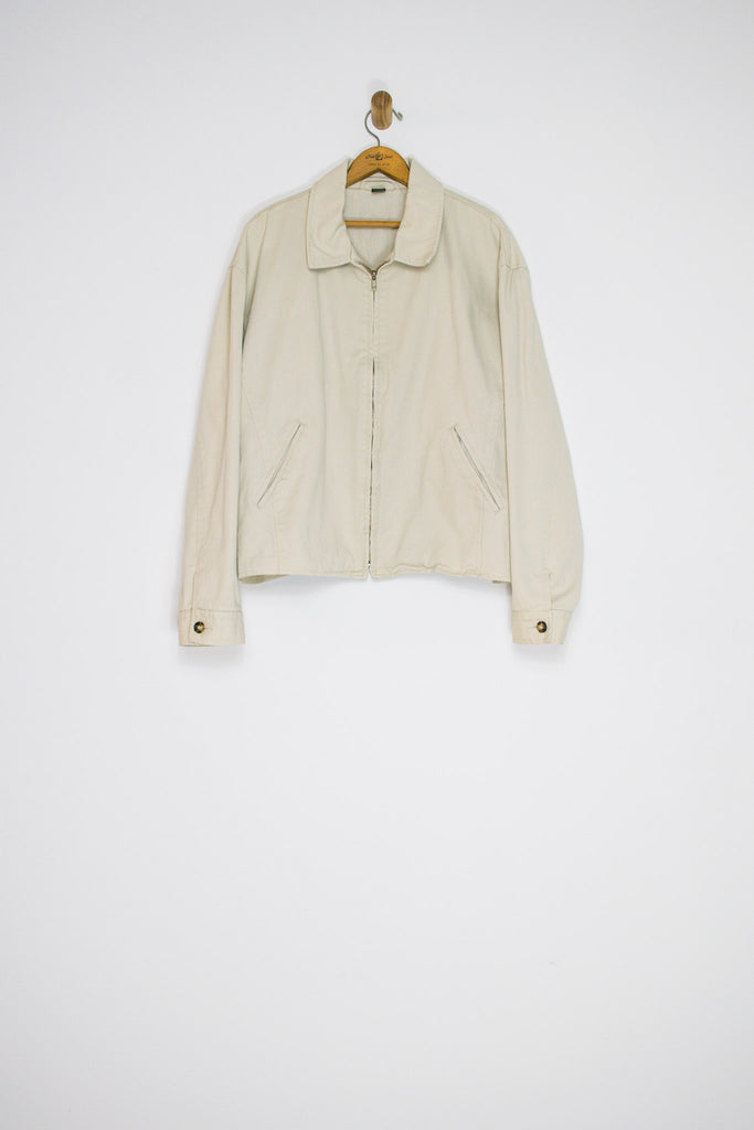 90's J.CREW COTTON JACKET / EXTRA LARGE